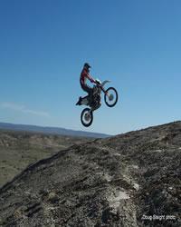 Motorcycle Riding at Sandwash Basin